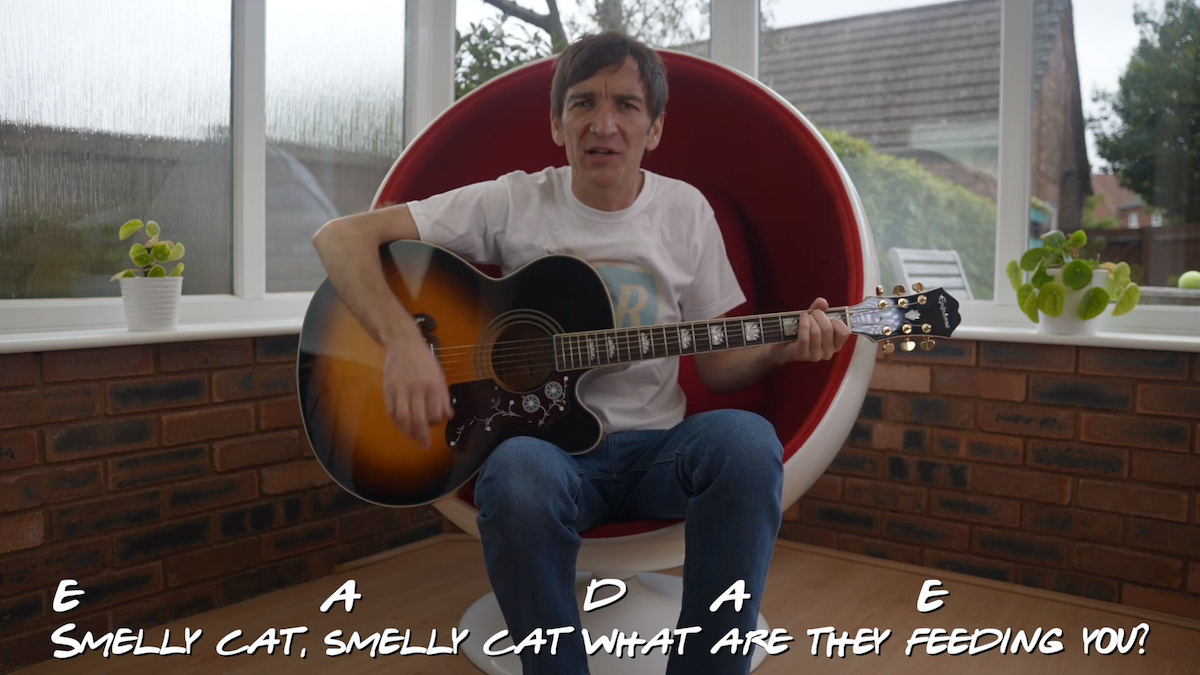 Smelly Cat How To Play On Acoustic Guitar Friends TV Show Phoebe Buffay